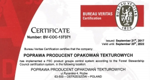 FSC® CERTIFICATE GAINED